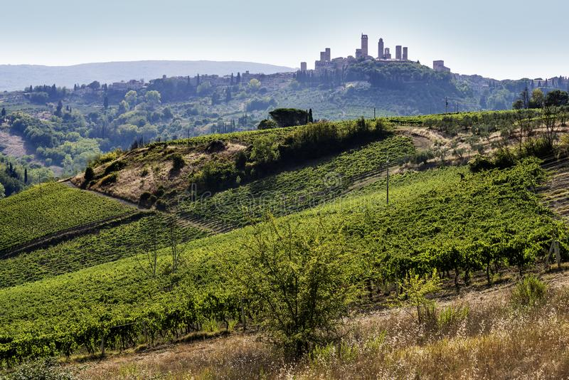 Download San Gimignano, Tuscany stock image. Image of destinations - 104995941