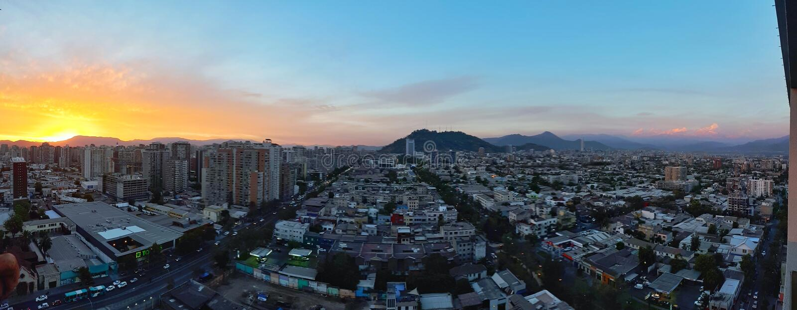 Download Panoramic View Of Santiago Chile Editorial Photography - Image of cityscape, america: 89904167