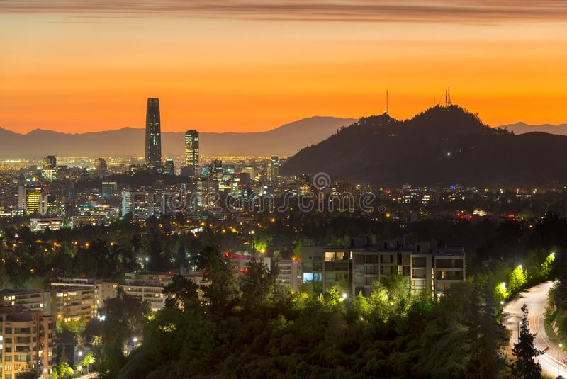 Panoramic view of Santiago de Chile royalty free stock image