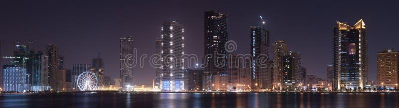 Panoramic View Of Sharjah Stock Photos