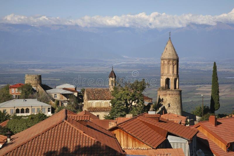Panoramic view of Sighnaghi. Kakheti. Georgia.  royalty free stock image