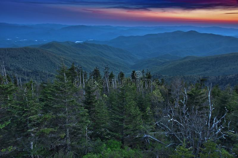 Panoramic View of Smoky Mountains National Park royalty free stock photography