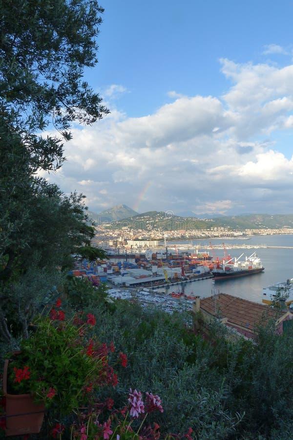 Salerno, Southern Italian coastal city stock photography