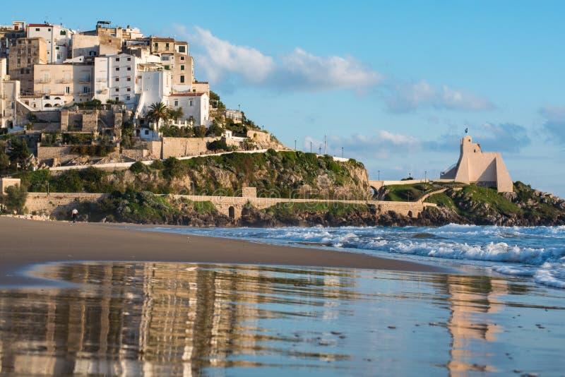 Download Panoramic View Of Sperlonga And Beautiful Sandy Beach Italy Stock Image Image Of