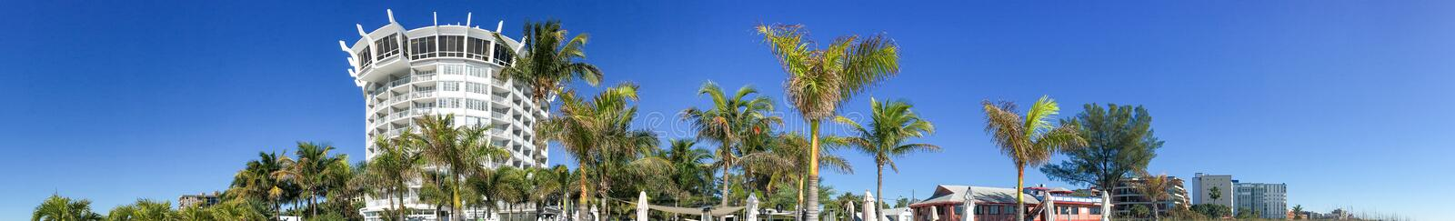 Panoramic view St Pete Beach, St Petersburg, Florida - USA.  royalty free stock photography