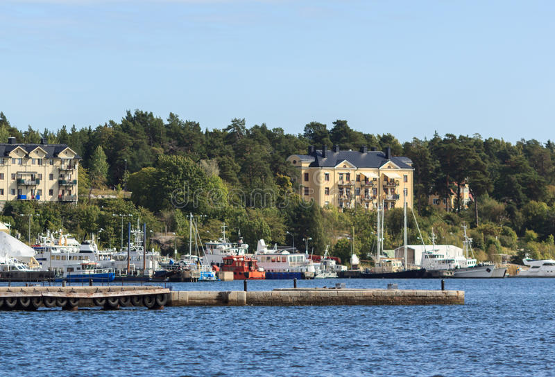 Panoramic view of Stockholm, Sweden royalty free stock image