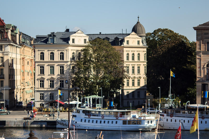 Panoramic view of Stockholm, Sweden royalty free stock photos
