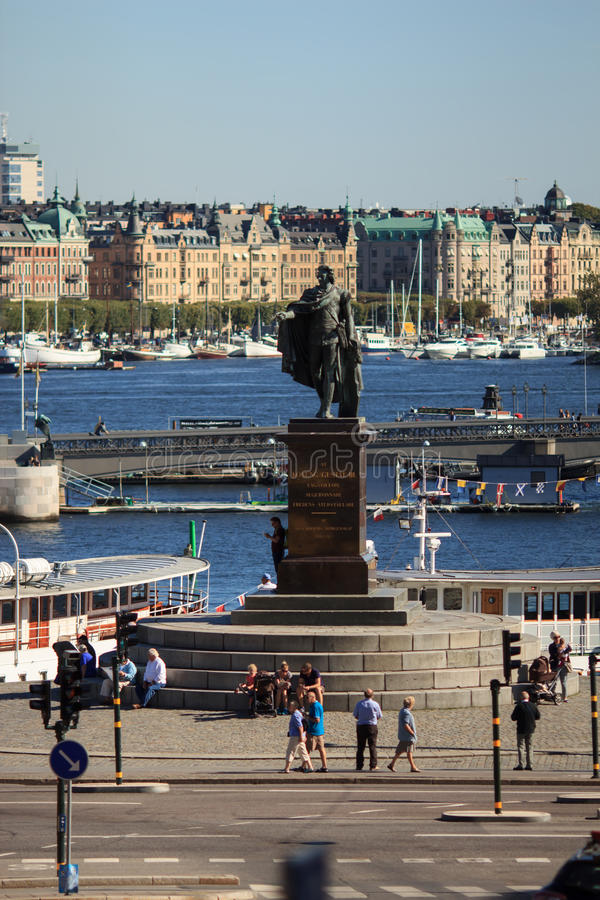Panoramic view of Stockholm, Sweden royalty free stock photography