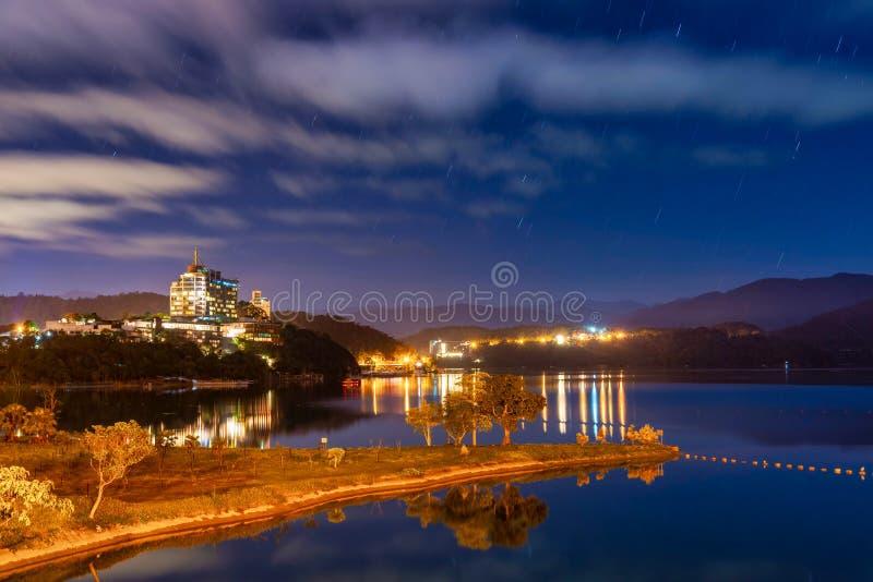 Sunrise scenery of Sun Moon Lake, Nantou, Taiwan royalty free stock images