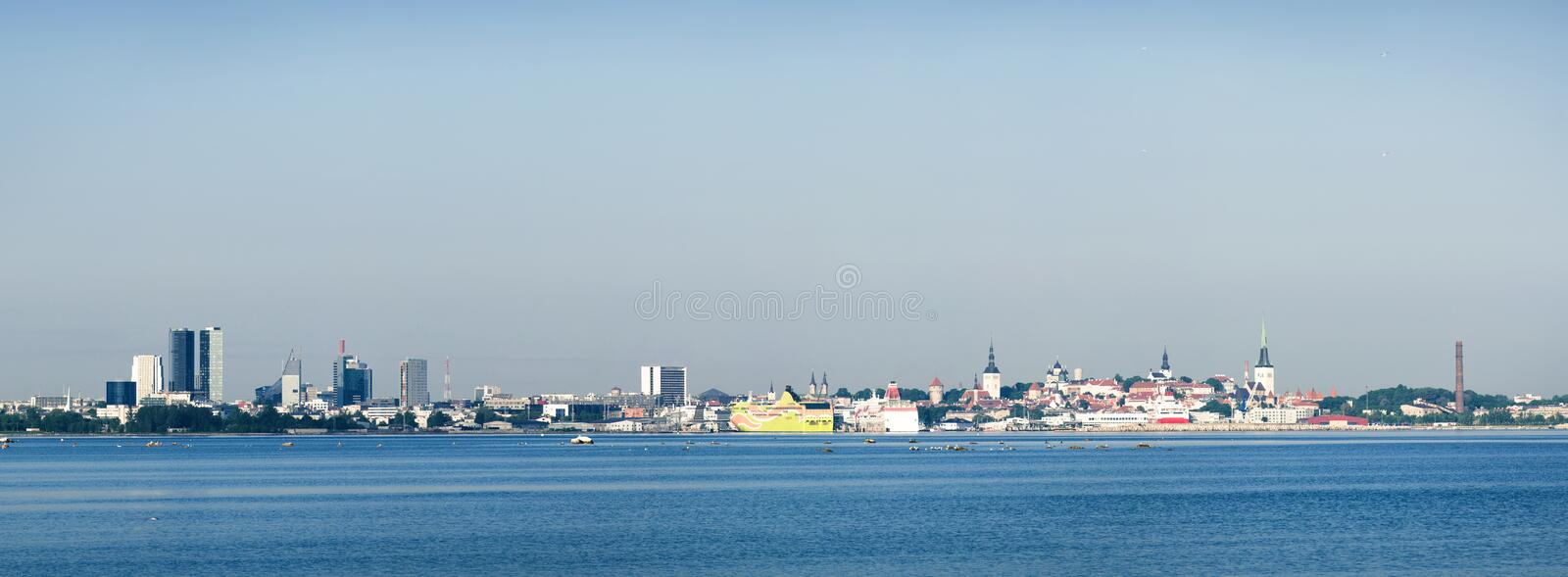Download Panoramic view of Tallinn stock image. Image of estonia - 20536793