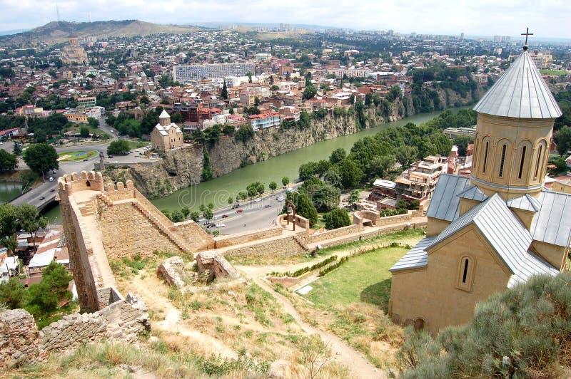 Download Panoramic view of Tbilisi stock image. Image of mtkvari - 18295271