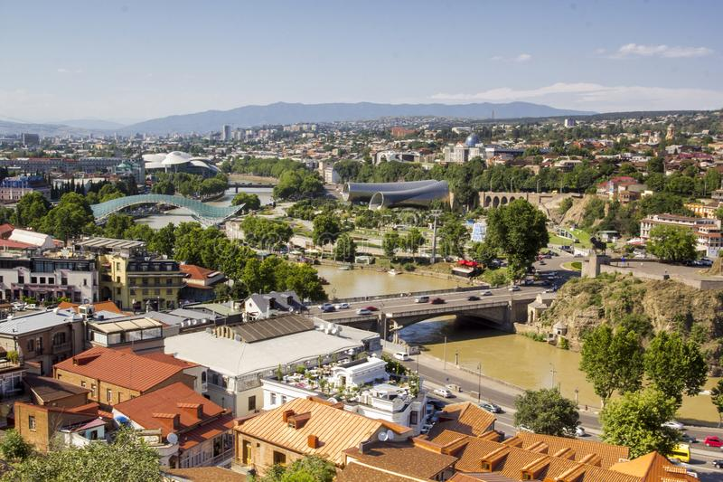 Panoramic view Of Tbilisi, Georgia stock images