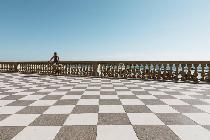 Panoramic view of Terrazza Mascagni (Mascagni terrace) royalty free stock photo