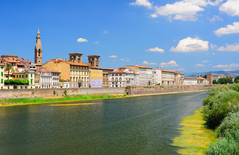 Download Panoramic View To The Arno River In Florence Stock Photo - Image: 26444768