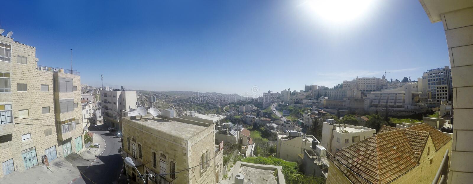 Panoramic view to Bethlehem royalty free stock photography