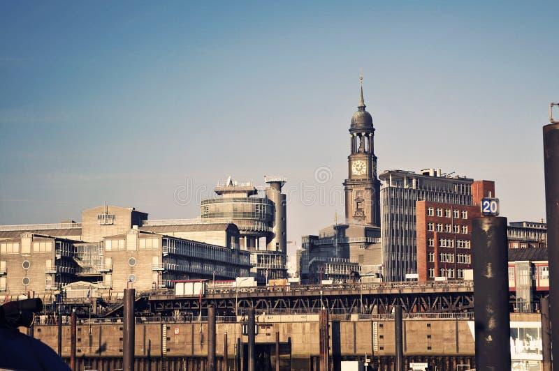 Download Panoramic View To Hamburg Harbour Stock Image - Image: 15974211