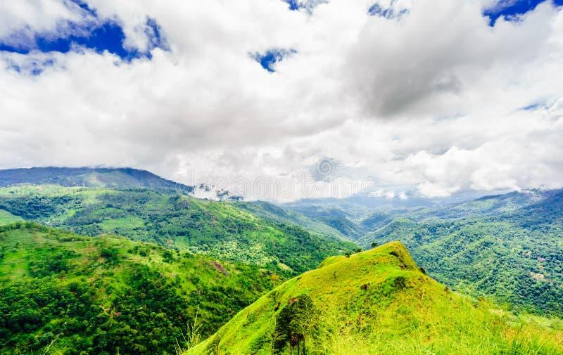 Panoramic view to mountain landscape of Ella rock in Ella, Sri Lanka stock images