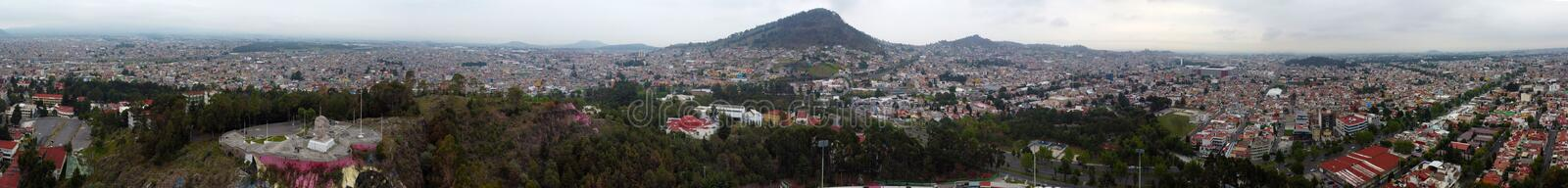 Panoramic view of Toluca mexico valley royalty free stock photography