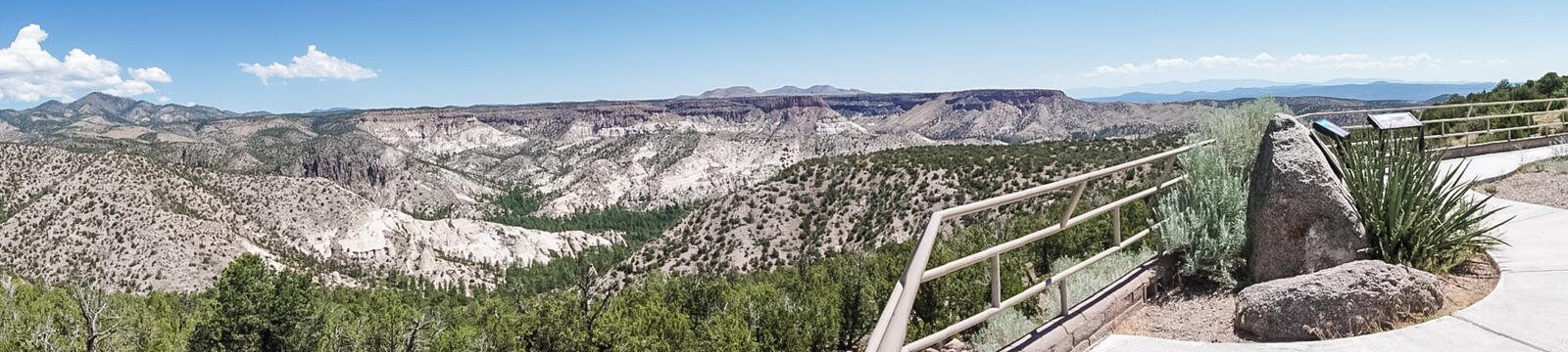 A Panoramic View of the top of the Tent Rocks National Monument. A Scenic Panoramic View of the top of the Tent Rocks National Monument near Cochiti, New Mexico royalty free stock photos