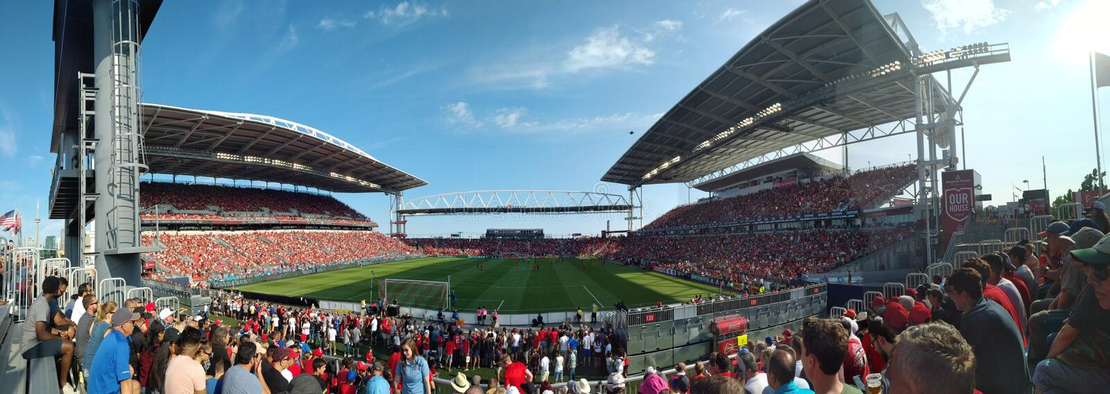 Panoramic view at Toronto FC royalty free stock photography