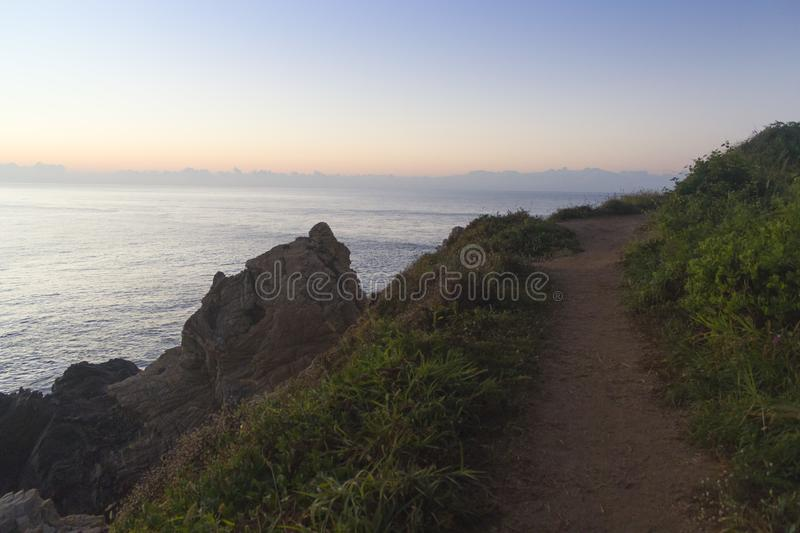 panoramic view of trails in punta comet, Huatulco Oaxaca , México royalty free stock photo