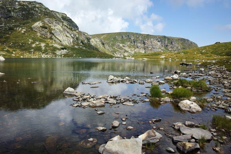 Panoramic view of The Trefoil, Rila Mountain,. The Seven Rila Lakes, Bulgaria royalty free stock photos