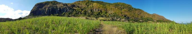 Trois Mamelles Mountain mauritius. Panoramic view of Trois Mamelles mountain in Mauritius royalty free stock photo