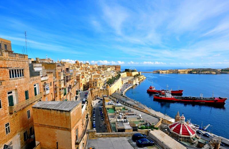 Panoramic view of Valletta city, Malta stock images