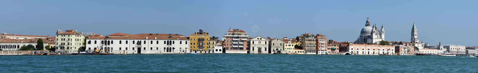 Panoramic View of Venice from Giudecca royalty free stock images