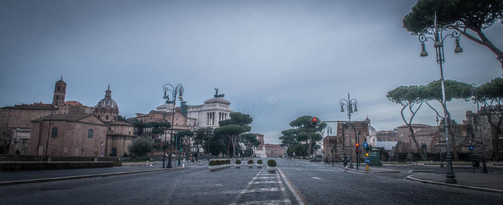 The National Monument to Victor Emmanuel II royalty free stock photos