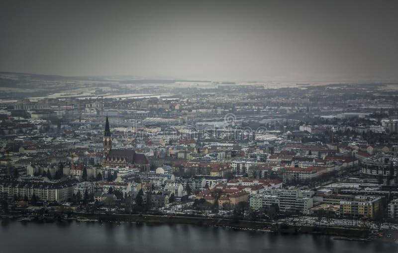 Panoramic view of Vienna stock photos