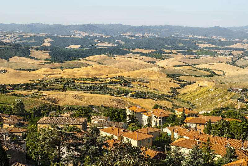 Panoramic View From Volterra (Tuscany) Royalty Free Stock Photo
