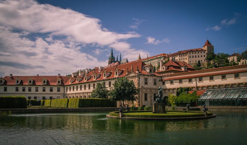 Wallenstein Palace Garden in Prague stock photos