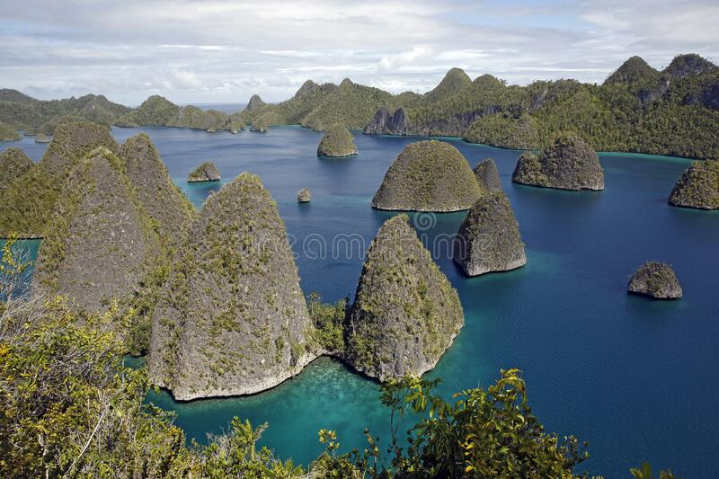 Wayag Archipelago, Raja Ampat royalty free stock photography