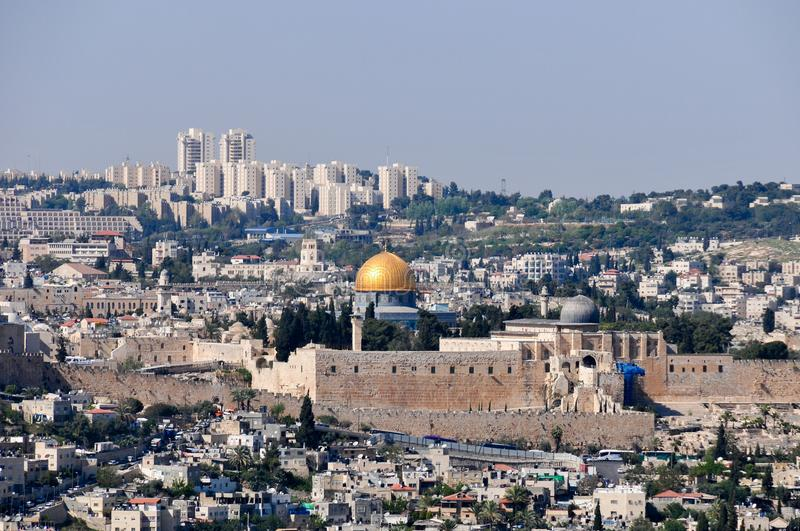 Download Panoramic View Of Jerusalem, Israel Stock Image - Image of blue, east: 104222099