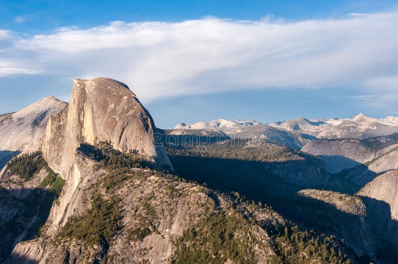 Panoramic view of Yosemite Valley National Park California United States. California mountain royalty free stock photography