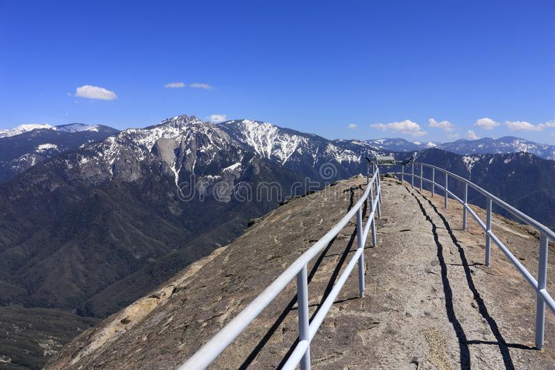 Panoramic Views from Moro Rock in Sequoia National Park, California royalty free stock photography