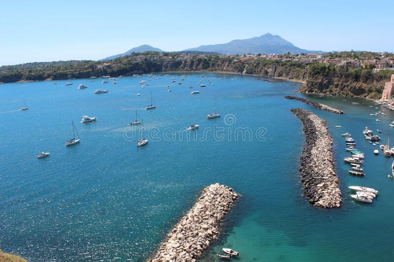 Panoramic views of Procida royalty free stock images
