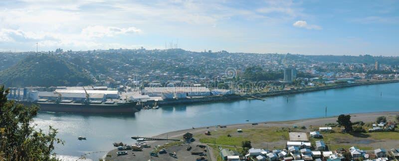 Panoramica de Puerto Montt fotografia stock
