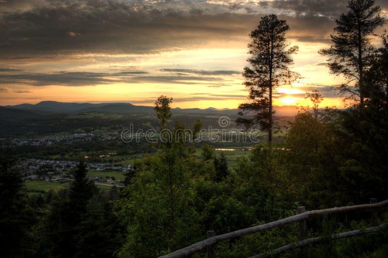 Panoramica di baie St Paul fotografia stock