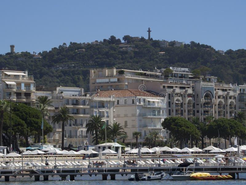 Panoramica di Cannes, Francia immagini stock