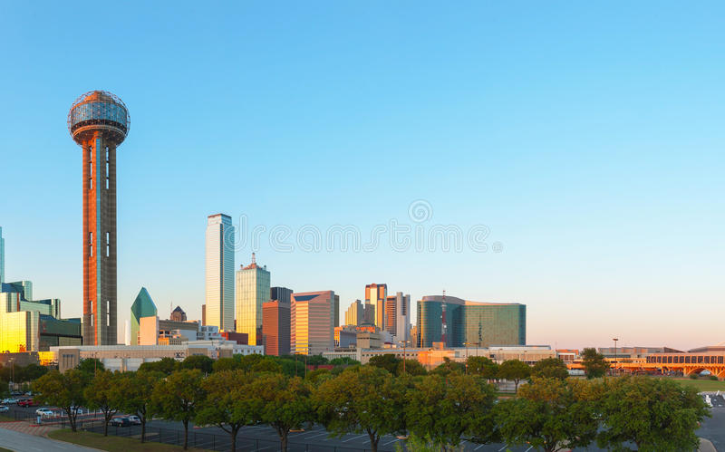Panoramica di Dallas del centro immagine stock