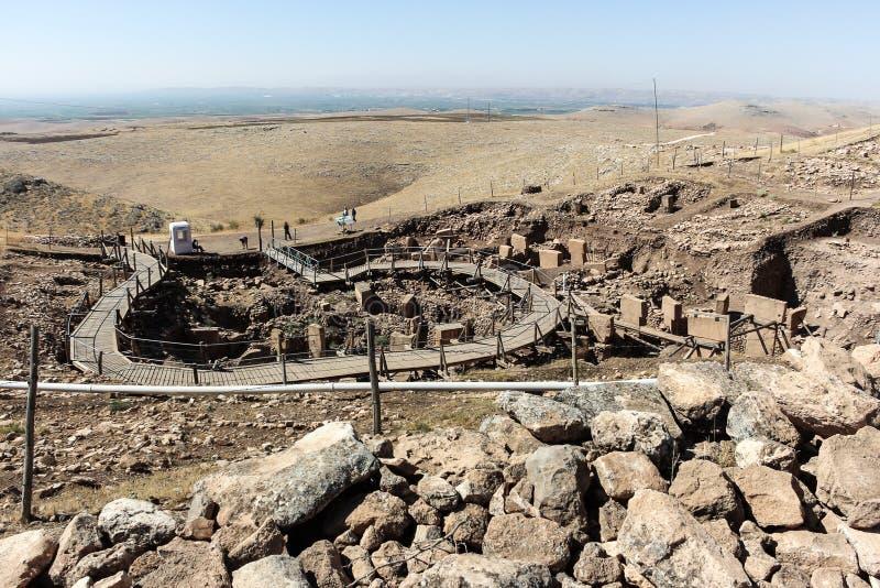 Panoramica di Gobekli Tepe fotografia stock libera da diritti