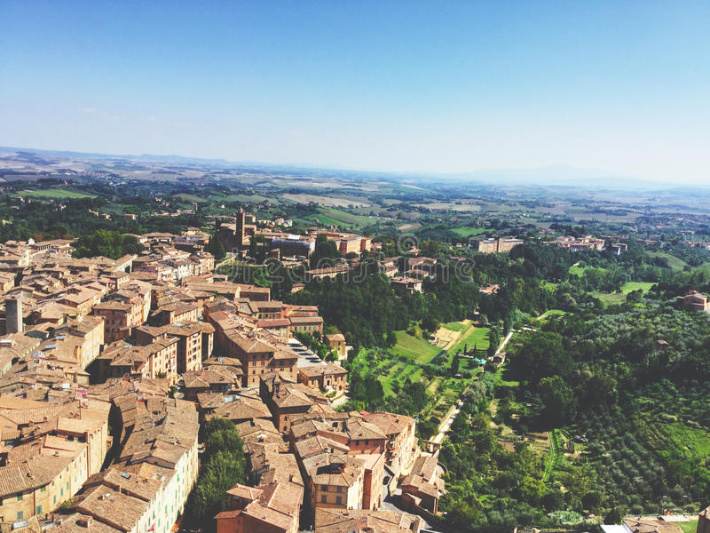 Panoramica di Siena fotografia stock libera da diritti
