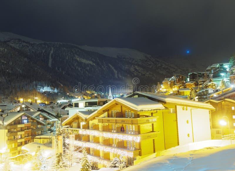 Panoramica di Zermatt fotografie stock