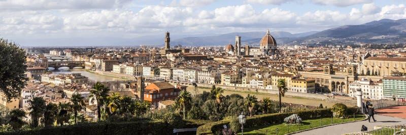 Panoramico di Florence City con la cupola di Florence Cathedral immagini stock