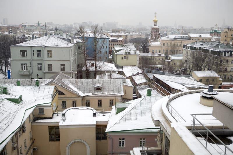 Panoramico vie all'inverno Mosca fotografia stock libera da diritti