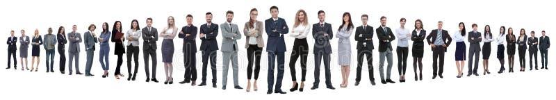 Panoramiczna fotografia grupa ufni ludzie biznesu obraz royalty free