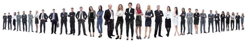 Panoramiczna fotografia grupa ufni ludzie biznesu zdjęcia royalty free