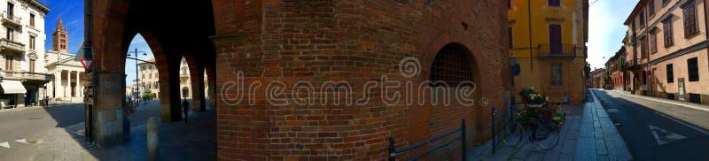 Panoramiczna ulica w Cremona Włochy fotografia stock